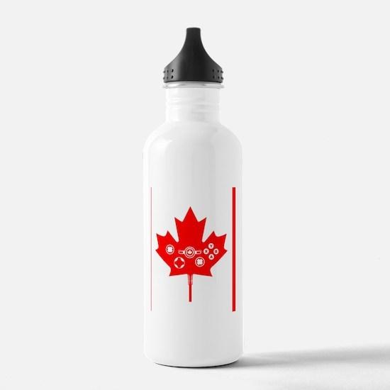 flag_canada_v2 Water Bottle