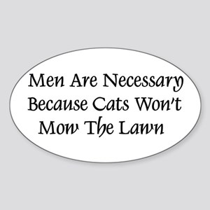 Men and Cats Oval Sticker