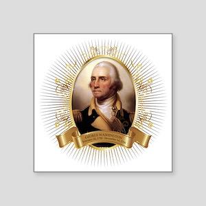 "George Washington Square Sticker 3"" x 3"""