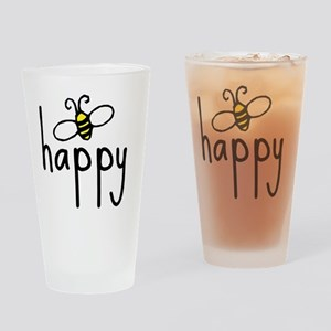 bee_happy Drinking Glass
