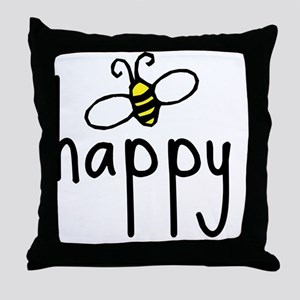 bee_happy Throw Pillow