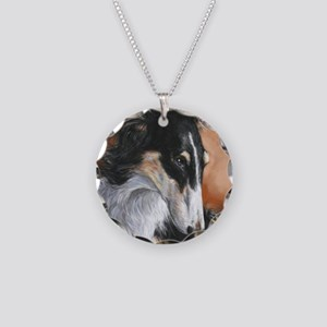 Borzoi # 2 Necklace Circle Charm