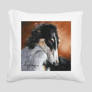 Borzoi # 2 Square Canvas Pillow