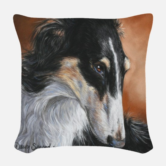 Borzoi # 2 Woven Throw Pillow