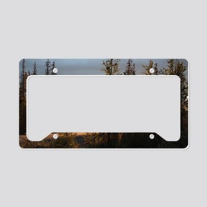 Dalton Highway Sunset License Plate Holder