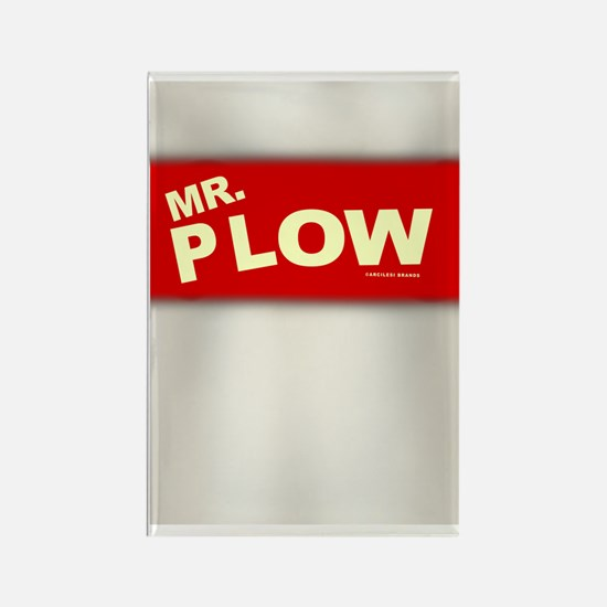 Mr Plow Rectangle Magnet