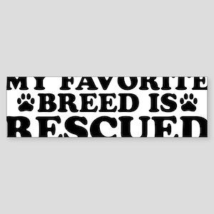 Breed Rescued Sticker (Bumper)