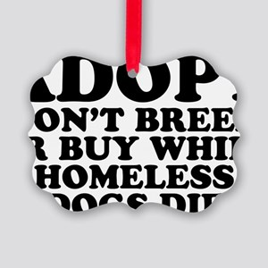 Adopt Homeless Picture Ornament