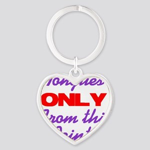 tonguesonly Heart Keychain