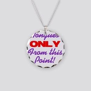 tonguesonly Necklace Circle Charm