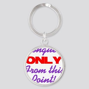 tonguesonly Round Keychain