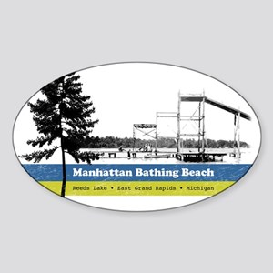 manhattanbeach Sticker (Oval)
