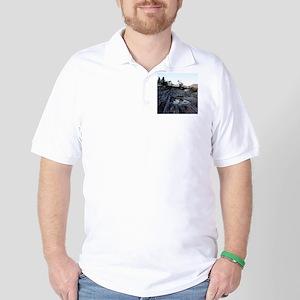 Pemaquid round ornament Golf Shirt