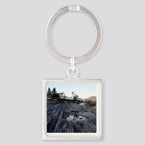 Pemaquid round ornament Square Keychain