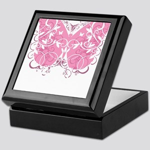 Breast-Cancer-Butterfly-blk Keepsake Box