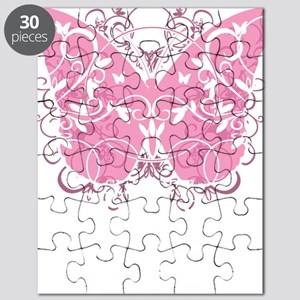Breast-Cancer-Butterfly-blk Puzzle