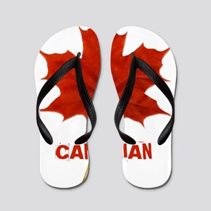 Canadian Maple Leaf Flip Flops