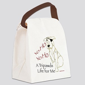 Tripawd Pirate Captain Jack Canvas Lunch Bag