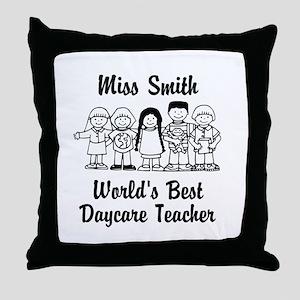 Custom Daycare Teacher Throw Pillow