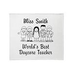 Custom Daycare Teacher Throw Blanket