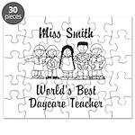Custom Daycare Teacher Puzzle