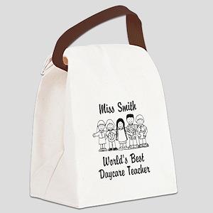 Custom Daycare Teacher Canvas Lunch Bag