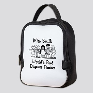 Custom Daycare Teacher Neoprene Lunch Bag