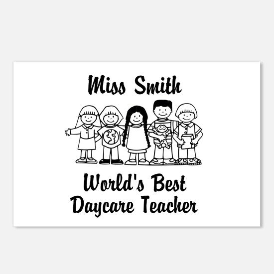 Custom Daycare Teacher Postcards (Package of 8)