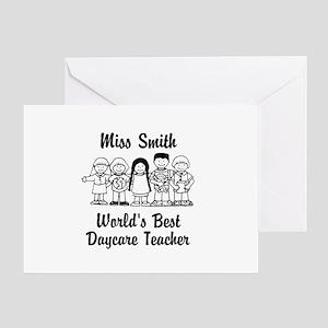 Custom Daycare Teacher Greeting Card