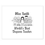 Custom Daycare Teacher Small Poster