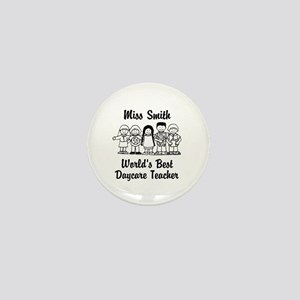 Custom Daycare Teacher Mini Button