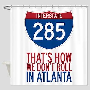Traffic Sucks on 285 in Atlanta Georgia Shower Cur