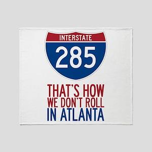 Traffic Sucks on 285 in Atlanta Georgia Throw Blan