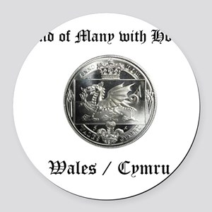Wales Round Car Magnet