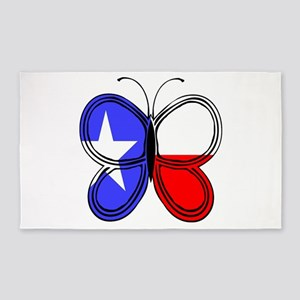 Texas Flag Butterfly 3'X5' Area Rug