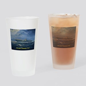 USS JFK clothes 3 Drinking Glass