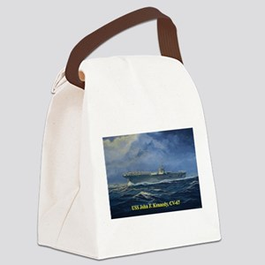USS JFK clothes 3 Canvas Lunch Bag
