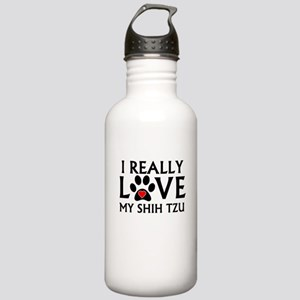 I Really Love My Shih Tzu Water Bottle