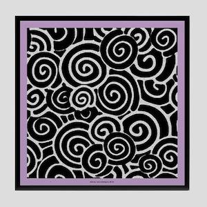 Plum Swirls Tile Coaster