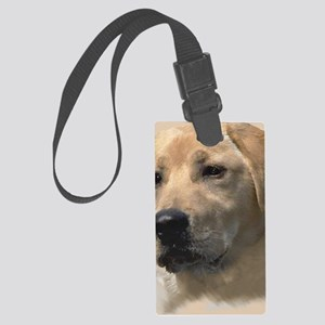 Yellow Labrador Retriever Large Luggage Tag