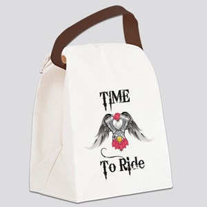 Time To Ride, Engine Canvas Lunch Bag