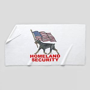 DOBERMAN HOMELAND SECURITY Beach Towel