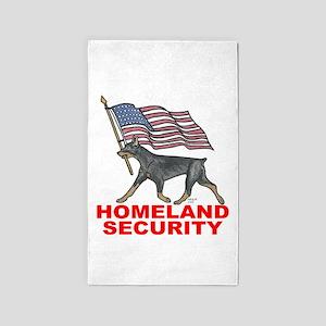 DOBERMAN HOMELAND SECURITY 3'X5' Area Rug