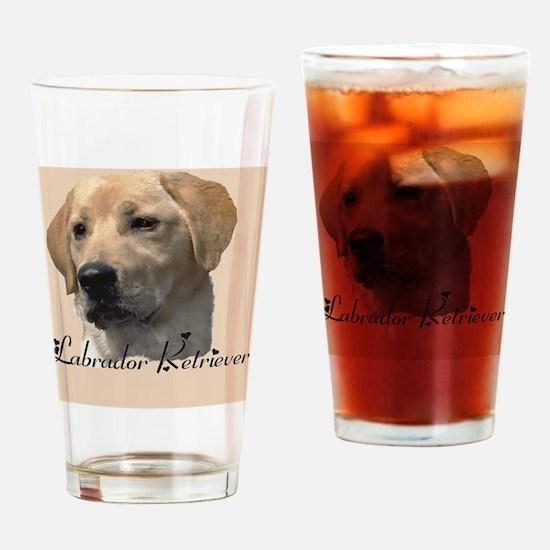 Yellow Labrador Retriever Drinking Glass