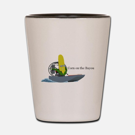 Corn On The Bayou Shot Glass