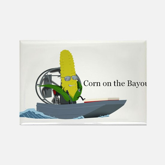 Corn On The Bayou Rectangle Magnet