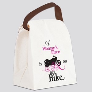 Womans Place, Bike Flourish Canvas Lunch Bag