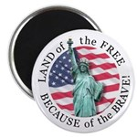 America Free and Brave Magnet