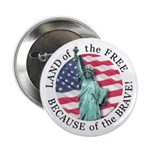 America Free and Brave Button