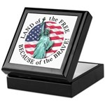 America Free and Brave Keepsake Box
